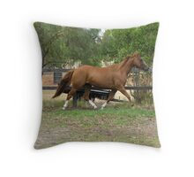 Hot-to-Trot Throw Pillow