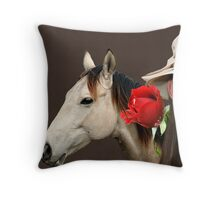 Divided Attention Throw Pillow