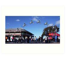 Josh Burdon Main street Jump Art Print