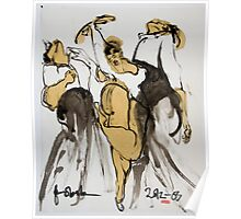 3 dancers Poster