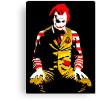 Banksy Joker McDonalds Canvas Print