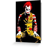 Banksy Joker McDonalds Greeting Card