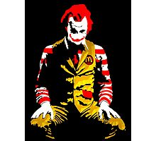 Banksy Joker McDonalds Photographic Print