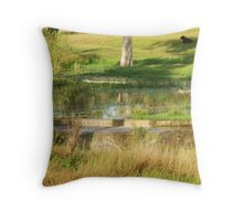 Morning by the Lagoon Throw Pillow