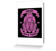 Legend Of Cybertron - Arcee Greeting Card