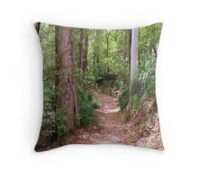 Leafy Pathway Throw Pillow