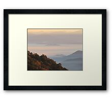 Sun-Kissed Mountain Mists Of October Dawn Framed Print