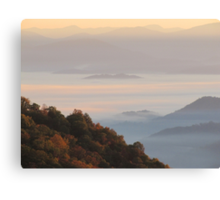 Sun-Kissed Mountain Mists Of October Dawn Canvas Print