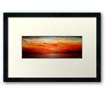 Panoramic Red Sunset Framed Print