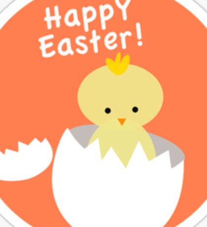Happy Easter from Chicky! Sticker
