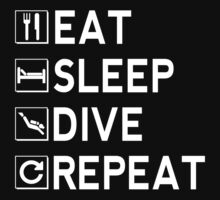 Eat - Sleep - Dive - Repeat One Piece - Long Sleeve