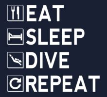 Eat - Sleep - Dive - Repeat Kids Clothes