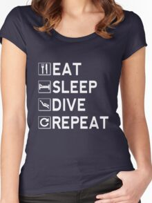 Eat - Sleep - Dive - Repeat Women's Fitted Scoop T-Shirt