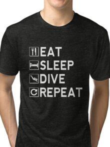 Eat - Sleep - Dive - Repeat Tri-blend T-Shirt