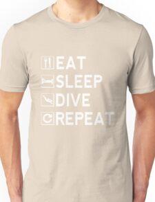Eat - Sleep - Dive - Repeat Unisex T-Shirt