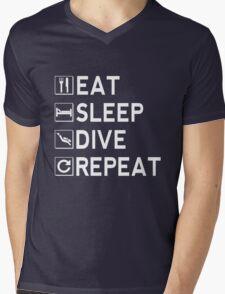 Eat - Sleep - Dive - Repeat Mens V-Neck T-Shirt