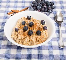 Oatmeal and Blueberries by dbvirago