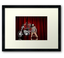 motorcycle show Framed Print
