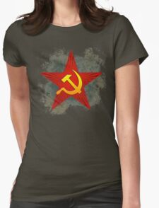 Grungy CCCP Womens Fitted T-Shirt