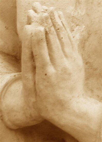 Hands In Prayer by Marie Sharp