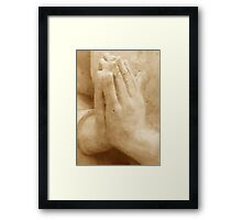 Hands In Prayer Framed Print
