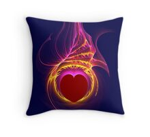 Heart Afire Throw Pillow