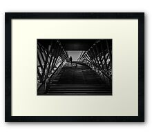 Passerelle Léopold-Sédar-Senghor Bridge Steps Framed Print