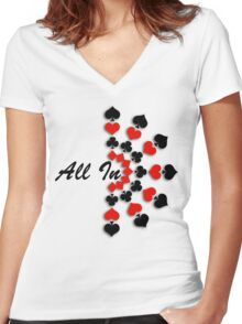All In Women's Fitted V-Neck T-Shirt