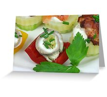 Fish and Vegetables Greeting Card