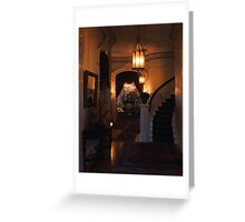 Sacramento's Historic Governor's Mansion: front entryway Greeting Card