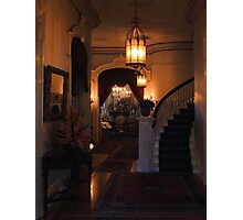 Sacramento's Historic Governor's Mansion: front entryway Photographic Print