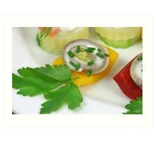 Fish and Vegetables II Art Print