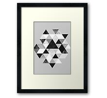 Graphic 202 Black and White Framed Print