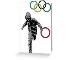 Banksy Olympic Rings Greeting Card