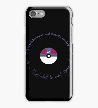 A Masterball to catch them all iPhone Case/Skin