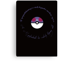 A Masterball to catch them all Canvas Print