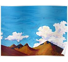 clouds and hills Poster