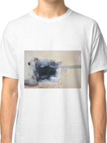 Abstract White Black Print from Original Painting  Classic T-Shirt