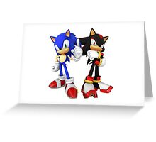 Sonic and Shadow - Sonic the Hedgehog Greeting Card