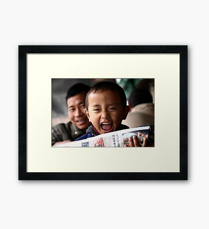 morning news. northern india Framed Print