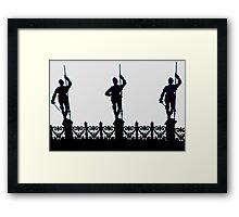 Paris Silhouettes Framed Print