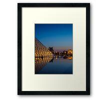 Louvre Sunset Framed Print