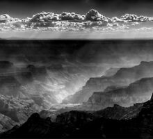 Bright Angel Point in Black and White by Bryan Shane