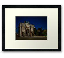 Arc de Triomphe du Carrousel Framed Print