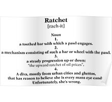 Ratchet Dictionary Poster