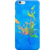 Somebody had Leaf for Lunch – Blue One iPhone Case/Skin