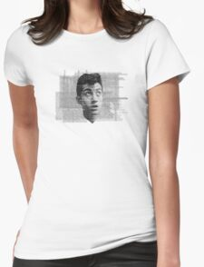Alex Turner Face Typography Womens Fitted T-Shirt