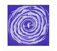 Galaxie spirale barrée Art Print