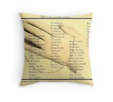 Let Go .... Your Hand  Throw Pillow