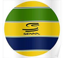 Senna's Helmet Poster